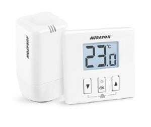 Auraton 200TRA Regulator temperatury dobowy bezprzewodowy z głowicą AURLA02002010