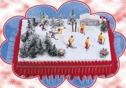 Kardasis - zestaw do dekoracji tortu Narciarze