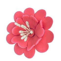 Fuksja lilaróż - kwiaty cukrowe - 8 szt.