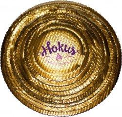 Podkład tortowy tacka z tektury złota śr. 16 cm