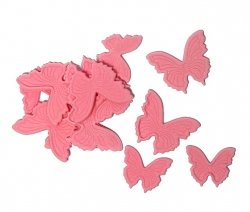 Motylki cukrowe różowe komplet 8x14 szt.