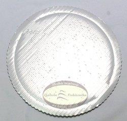 Podkład tortowy tacka z tektury perłowa śr. 26 cm