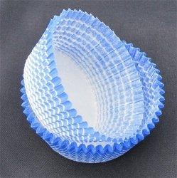 Papilotki - foremki do mufinek niebieskie  50 mm 100 szt.