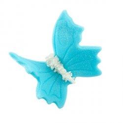 Motylki cukrowe duże niebieskie 10 x 5 szt.