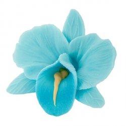 Kwiaty cukrowe - Storczyk opak. 10 szt. niebieski