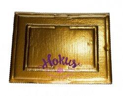 Podkład tortowy tacka z tektury złota 30 x 40 cm