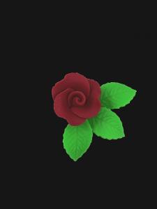 Róża mała z listkami - bordowa 20 kompletów