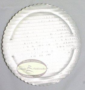 Podkład tortowy tacka z tektury perłowa śr. 18 cm