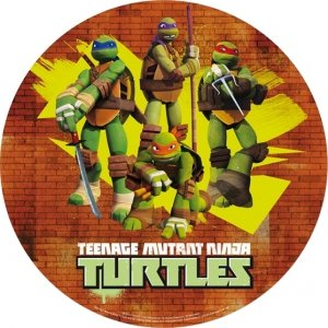 Opłatek na tort Wojownicze Żółwie Ninja
