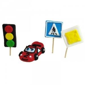 Zestaw cukrowy AUTKO + znaki drogowe.