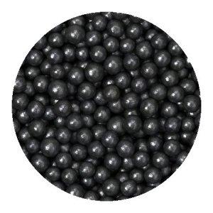Perełki cukrowe CZARNE nabłyszczane miękkie 5mm 1kg