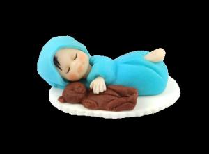 Hokus - Cukrowy bobas z misiem - dekoracja tortu na chrzest opak.6 szt.