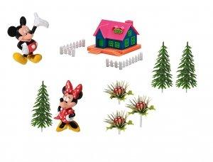 Modecor - Zestaw dekoracyjny Myszka Minnie i Mickey z domkiem