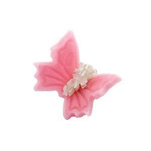 Motylki cukrowe małe różowe 20 x 5 szt.