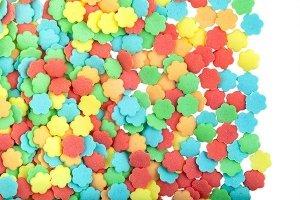 Posypka dekoracyjna confetti kolorowe kwiatuszki 150g