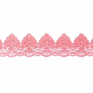 Cukrowa jadalna KORONKA do dekoracji tortu 120cm 24 pudrowa