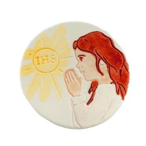 Hostia z dziewczynką - dekoracja cukrowa ręcznie malowana
