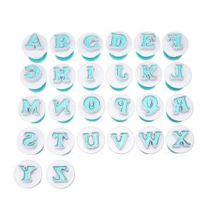 Foremki wykrawacze do masy cukrowej LITERKI alfabet 2cm