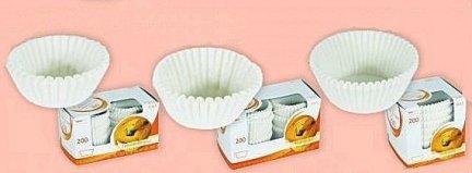 Papilotki - foremki do mufinek białe fi 40 mm 200 szt.