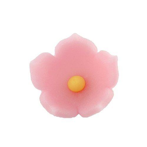 HOKUS - Kwiatek firmowy różowy - Kwiaty cukrowe 8 x 10 szt.