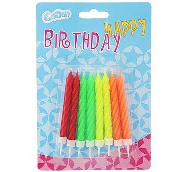 Świeczki urodzinowe FLUOR