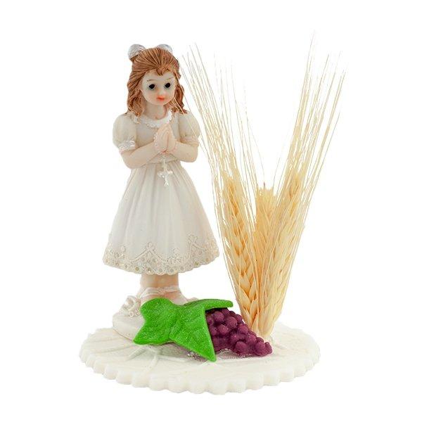 Dziewczynka z kłosem - figurka/dekoracja cukrowa na tort