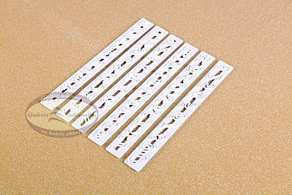 Wykrawaczki do ozdób duże litery i cyfry kursywa