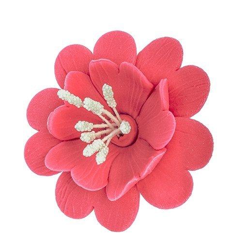 Fuksja ciemno różowa - kwiaty cukrowe - 8 szt.