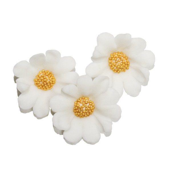 Stokrotka biała - Kwiatki cukrowe 5 x 6 op.