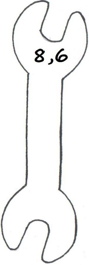 Wykrawaczka do ciastek KLUCZ DO ŚRUB 8,6 cm