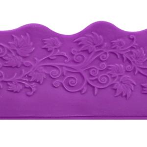 Modecor - Liście - matryca do wykonania taśmy na bok tortu 80 cm