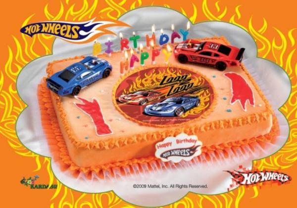 Kardasis - zestaw do dekoracji tortu HOT WHEELS