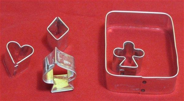 Zestaw wykrawaczek KARTY DO GRY  5 elementów
