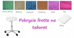 Pokrycie na taboret frotte GRANATOWE