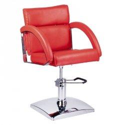 Fotel Fryzjerski Dino Czerwony BR-3920 BS