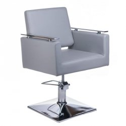 Fotel Fryzjerski Milo BH-6333 Jasno Szary BS