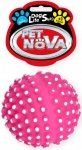 Pet Nova Zabawka dla psa - Piłka jeżowa - różowa 6,5cm