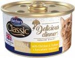 Butchers Cat Classic Delicious Dinners Mus z kurczakiem i indykiem 85g