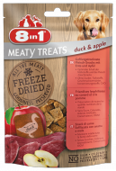 8in1 Meaty Treats Freeze Dried Kaczka i Jabłko 50g