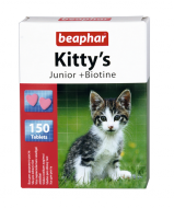 Beaphar Kitty's Junior + Biotine - przysmak dla kociąt z zawartością biotyny 150szt