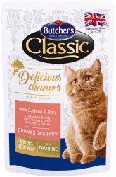 Butchers Cat Classic Delicious Dinners Łosoś z doradą w sosie 100g