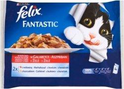Felix Fantastic wybór mięs 4x100g: 2x z wołowiną; 2x z kurczakiem
