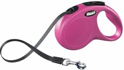 Flexi New Classic taśma S 5m różowa - smycz automatyczna