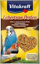 Vitakraft Lebertran-Perlen Zestaw witamin i minerałów z tranem dla papugi falistej 20g