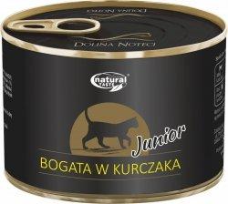Natural Taste Cat Junior Bogata w kurczaka 185g