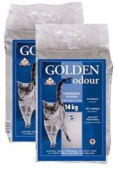 Golden Grey Odour żwirek bentonitowy zwalcza nieprzyjemne zapachy 2x14kg