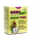 Herbata Ziołowa Femofit nr 2 (Gruszynka, Czerwona Szczotka Rhadiola qudrifida), 20 Saszetek