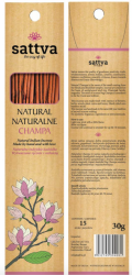 Natural Incense Sticks Champa, Sattva, 30g