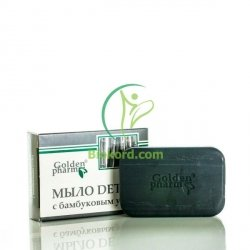 Bamboo Charcoal DETOX Bar Soap, Golden Farm, 70g