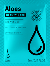 SAMPLE Aloes Shower Gel DuoLife Beauty Care, 200 ml